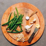 1-Pan Garlicky Green Beans with Slivered Almonds