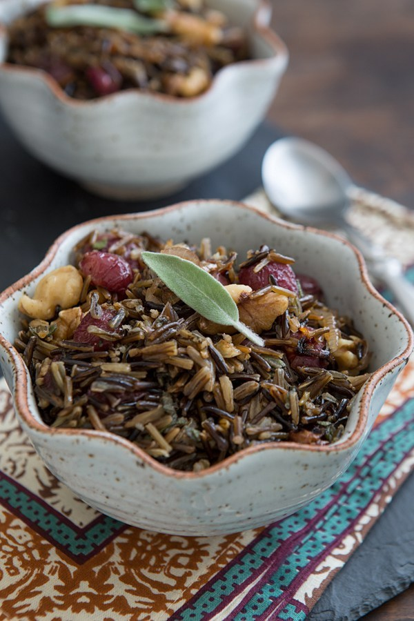 Wild Rice with Roasted Grapes & Walnuts