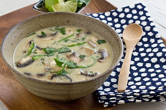 Coconut Lime Tofu Soup