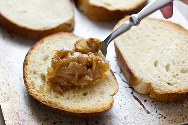 Caramelized Onions on Bread