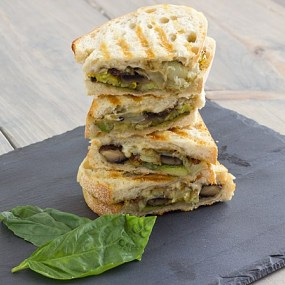 Pesto Roasted Veggie Sandwich Stack